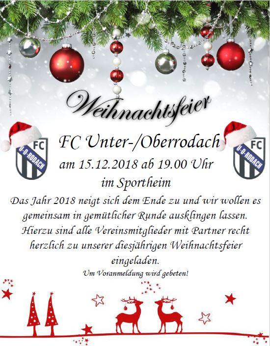 Einladung Zur Weihnachtsfeier.Einladung Zur Alljahrlichen Weihnachtsfeier Fc Unter